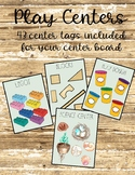 Play Center Labels for Choice Time! (43 labels included)
