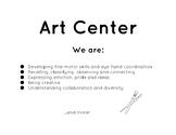 Play Center Signs w/Purposeful Learning Objectives (Reggio/Montessori inspired)