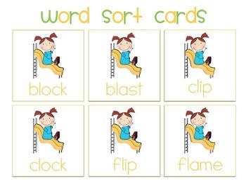 Play Date! {beginning l blends Word Work}