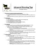 Play Directing Tips for Advanced and Beginning Theatre / Drama Directors