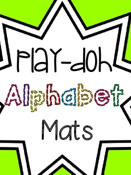 Play-Doh Alphabet Mat { Capitals }