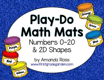 Play-Do Math Mats {Numbers 0-20 and 2D Shapes}