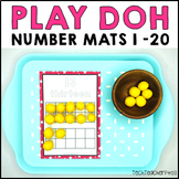 Number Play Dough Mats with Ten Frames 1 to 20