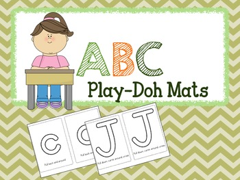 Play-Doh ABC Letter Formations Practice Mats with Verbal Path