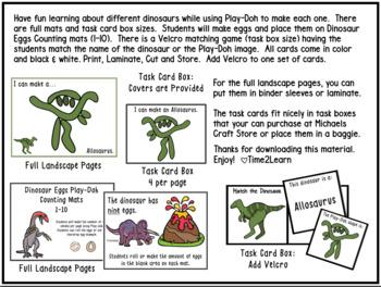 Play-Doh Activities:  Dinosaurs