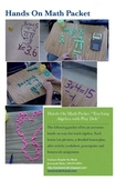 "Play Doh Algebra ""Math Packet"" For Teaching Equations"