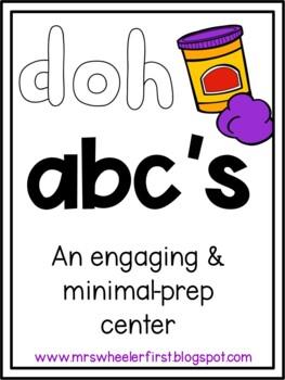 Play Doh Alphabet Mats