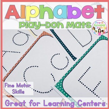 Play-Doh Alphabet Mats