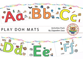 DOLLAR DEAL Play Doh Alphabet Mats / Posters - Boardmaker / Printables