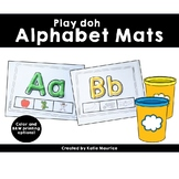 Play Doh Alphabet Mats- Uppercase and Lowercase
