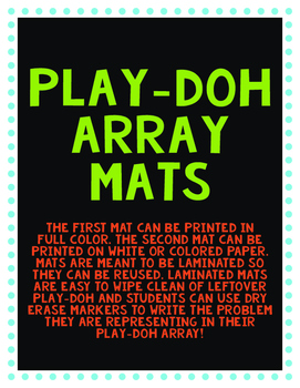 Play-Doh Arrays