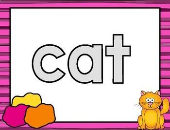 Play Doh CVC Word Mats