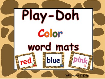 Play-Doh Color Word Mats