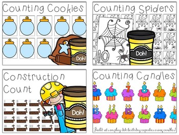 Play-Doh Counting Mats BUNDLE