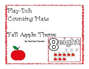 Play-Doh Counting Mats - Fall Apple Theme