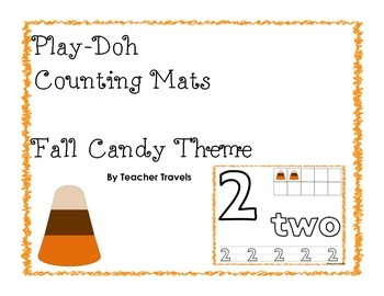 Play-Doh Counting Mats - Fall Candy Theme