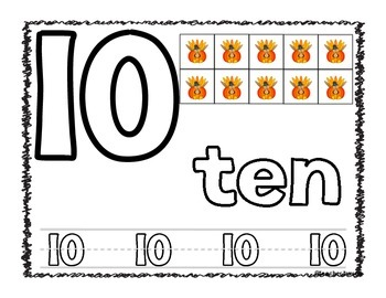 Play-Doh Counting Mats - Fall Pumpkin Turkey Theme