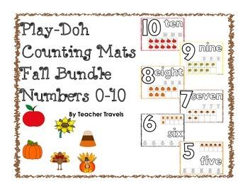 Play-Doh Counting Mats - Fall Theme BUNDLE