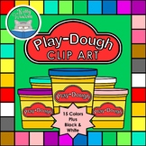 PLAY-DOUGH (Play-Doh Inspired) Clip Art Set - Containers i
