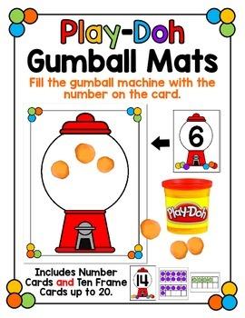 Play-Doh Gumball Math Mats - Numbers 1-20
