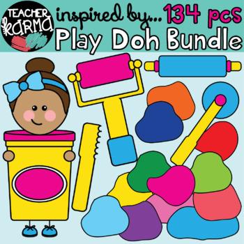Play Doh Kids & Clay Clipart BUNDLE: 134 pieces