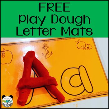 Play Doh Letter Formation Cards