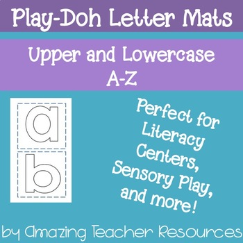 Play-Doh Letter Mats A-Z Uppercase and Lowercase!