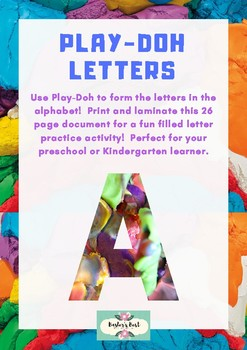 Play-Doh Letters