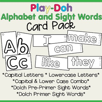 Play-Doh Letters and Dolch Word Pack