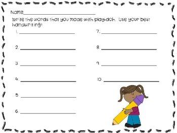 Play Doh Literacy Center