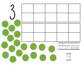 Play-Doh Math Center Ten Frames Numbers 1-20
