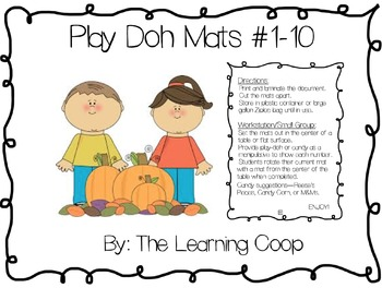Play-Doh Number Mats #1-10