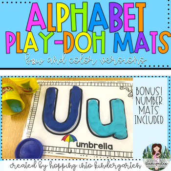 Play-Doh Mats - ABC's and Numbers 1-10