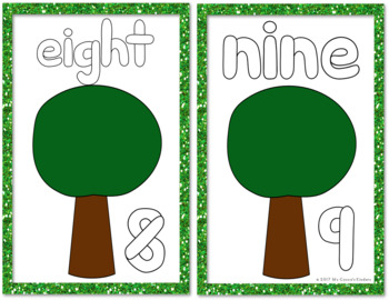 Play Doh Mats - Numbers 0-10 Apple Trees