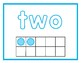 Play Doh Mats Numbers 1-10 with Words and Tenframes