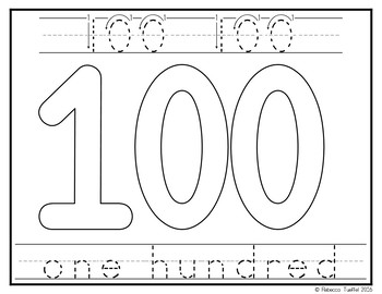 Play Doh Mats: Numbers 1-100