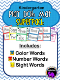 Play-Doh Mats Pack: Dolch Sight Words, Color Words, Number Words