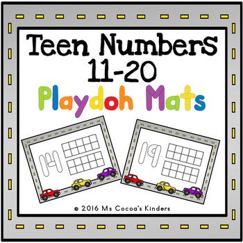 Play Doh Mats - Teen Numbers