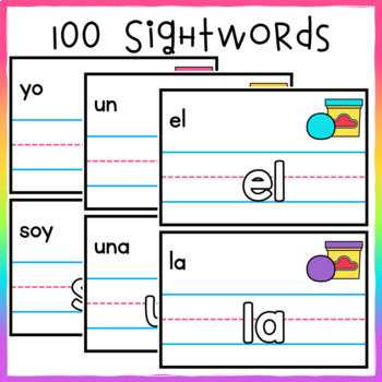 Play Doh Mats for High Frequency Words SPANISH