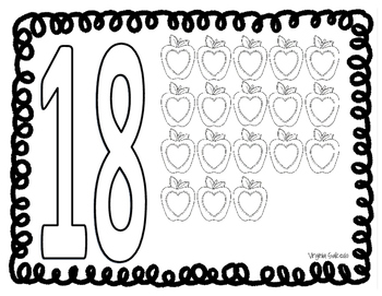 Play-Doh Mats for Numbers 1-20