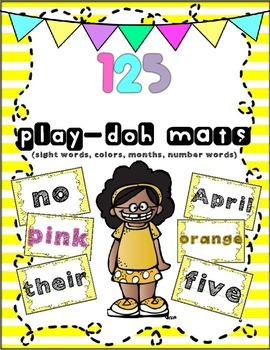 Play-Dough Mats (sight words, colors, word numbers, months)