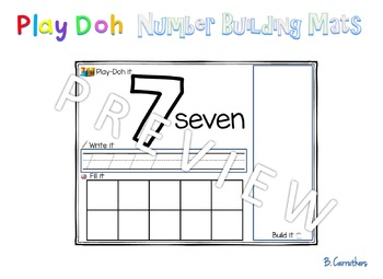Play Doh Number Building Mats