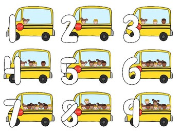 Play-Doh Number Mats 0-20--School Bus Themed Center for PK-1