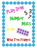 Play Doh Number Mats 0-20 with Ten Frames