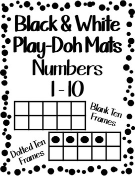 Play Doh Number Mats