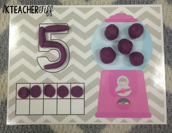 Play Doh Number Mats