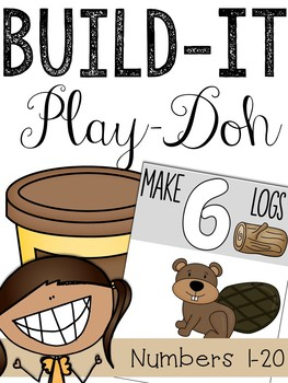 Play-Doh Number Mats (Counting 1-20)