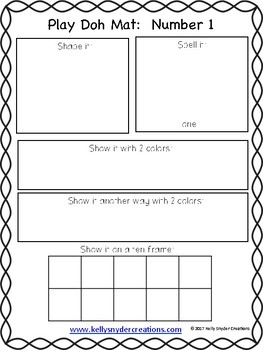 Play Doh Number Mats - Great for Kindergarten Math Centers