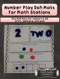 Play Doh Number Mats - Great for Kindergarten Math Centers