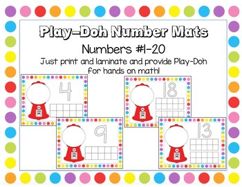 Play-Doh Number Mats for Math